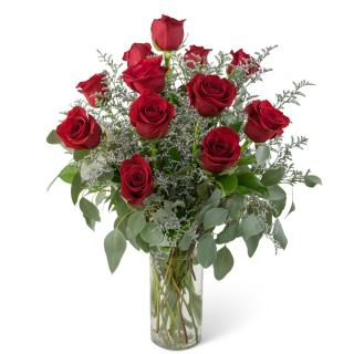 Elegance and Grace Dozen Roses