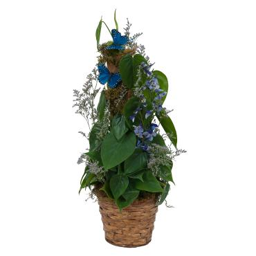 Plant Basket with Butterflies
